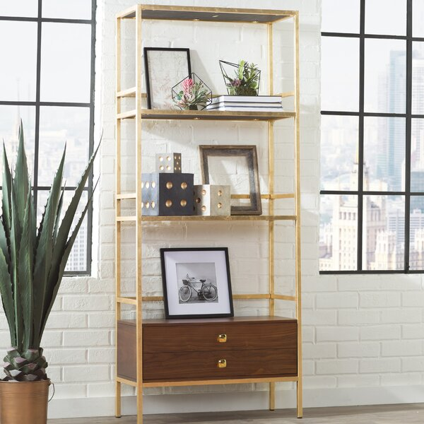 Arrighetto 4 Tier Etagere Bookcase by Trent Austin Design