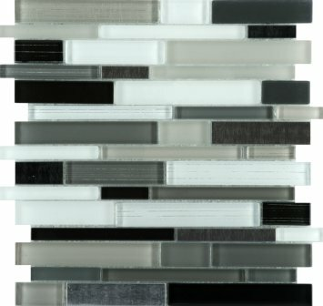 Flash 12 x 12 Glass Linear Mosaic Tile in Sparkling by Emser Tile