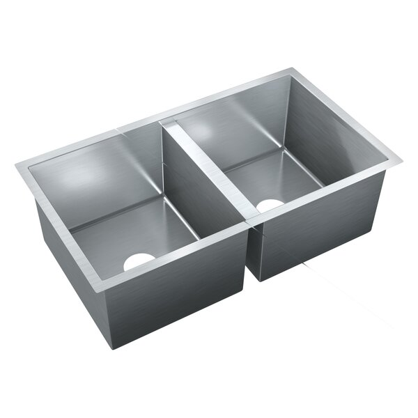 31.5 L x 18 W Double Bowl Undermount Kitchen Sink by Just Manufacturing