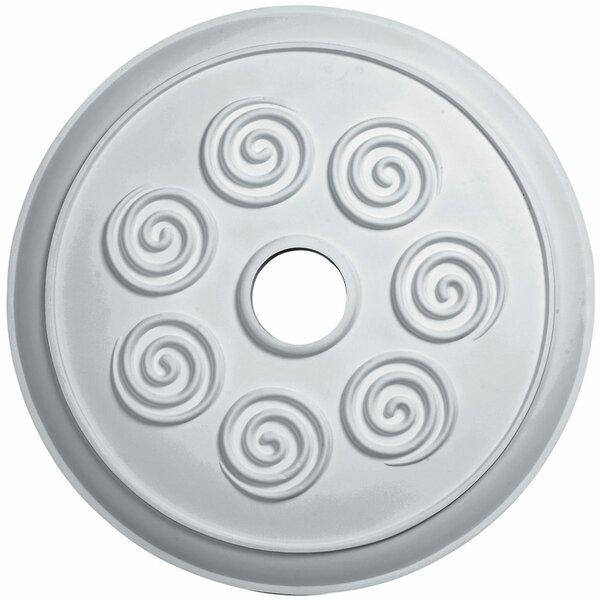 Spiral 1/9H x 25 1/4W x 2D Ceiling Medallion by Ekena Millwork