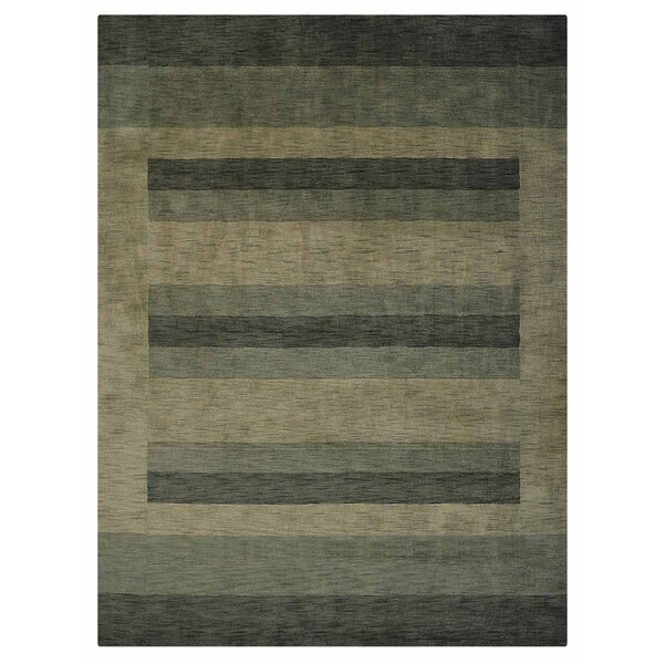 Stavros Hand-Woven Wool Green/Beige Area Rug by Latitude Run