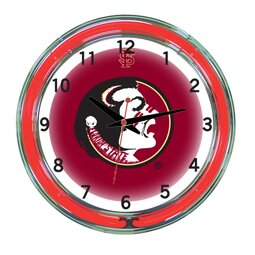NCAA 18 Team Neon Wall Clock by Wave 7