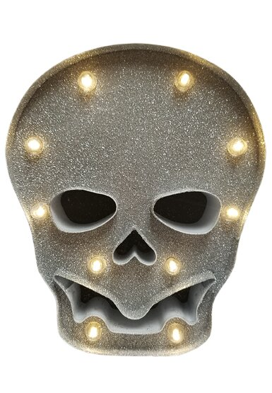Battery Operated LED Metal Skull 10 Light Lighting Accessory by The Holiday Aisle