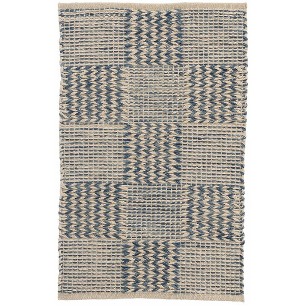 Tiles Hand-Woven Blue Area Rug by Dash and Albert Rugs