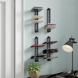 Multimedia Wall Mounted Storage Rack Set of 4