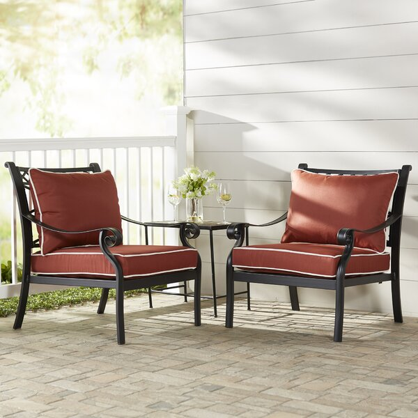 Nadine Arm Chair With Cushion (Set Of 2) By Fleur De Lis Living