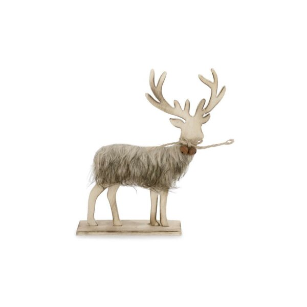 Friesen Fur Trim Deer With Bells By Millwood Pines by Millwood Pines 2019 Sale