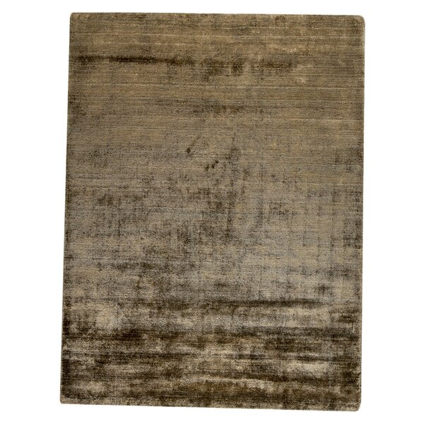 Platinum Hand-Woven Khaki Area Rug by M.A. Trading