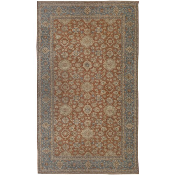 One-of-a-Kind Hand-Knotted Brown/Blue 13'3 x 21'9 Wool Area Rug