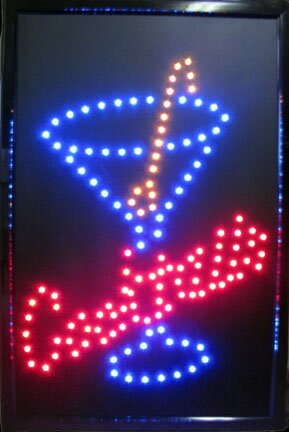 Cocktails LED Sign Hanging Lamp by NeoPlex