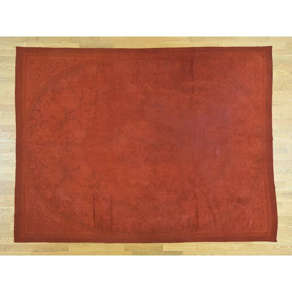 One-of-a-Kind Besser Overdyed Handwoven Red Wool Area Rug by Isabelline