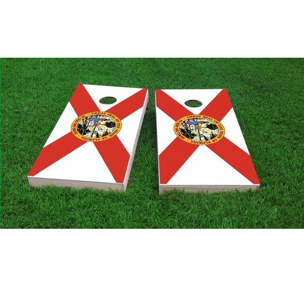State of Florida Flag Cornhole Game Set by Custom Cornhole Boards