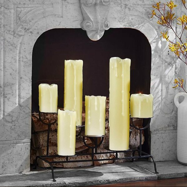 6 Piece Realistic LED Scented Flameless Candle Set by The Holiday Aisle
