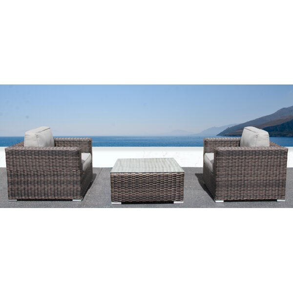 Darvin 3 Piece Seating Group with Cushions by Sol 72 Outdoor