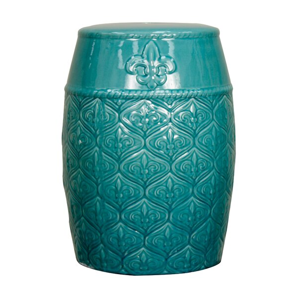 Spear Ceramic Garden Stool by New Pacific Direct