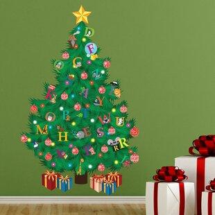 Traditional Kids Alphabet Christmas Tree Wall Decal