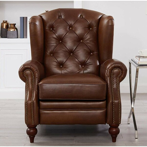 Florez Leather Manual Recliner By Red Barrel Studio