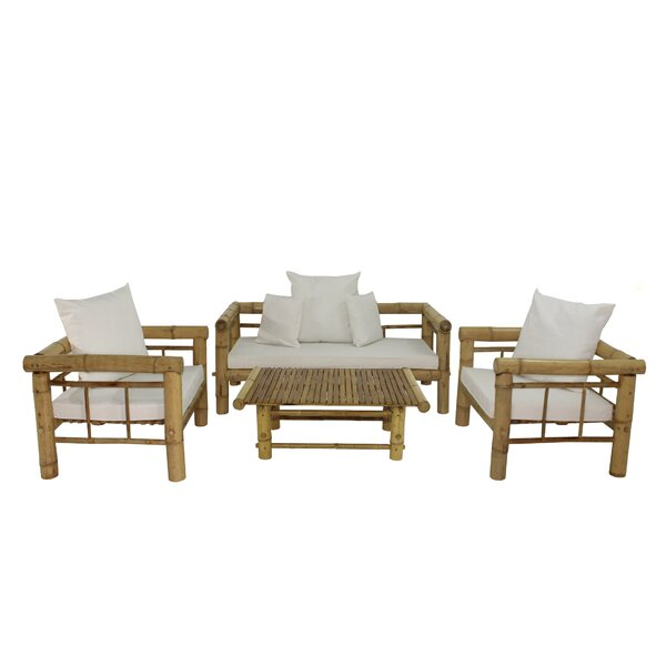 Kozan 4 Piece Sofa Set with Cushions by Bay Isle Home