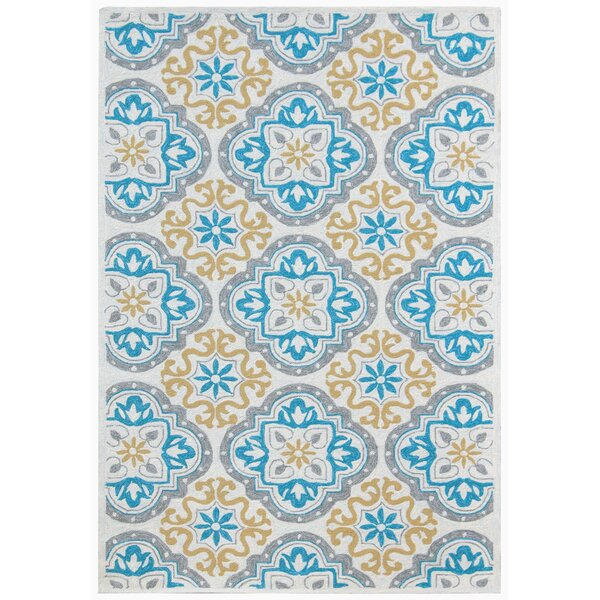 New Hartford Gray/Blue Indoor/Outdoor Area Rug by Winston Porter