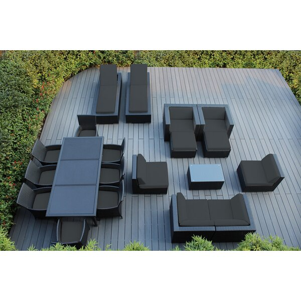 Bartol 20 Piece Rattan Complete Patio Set with Cushions