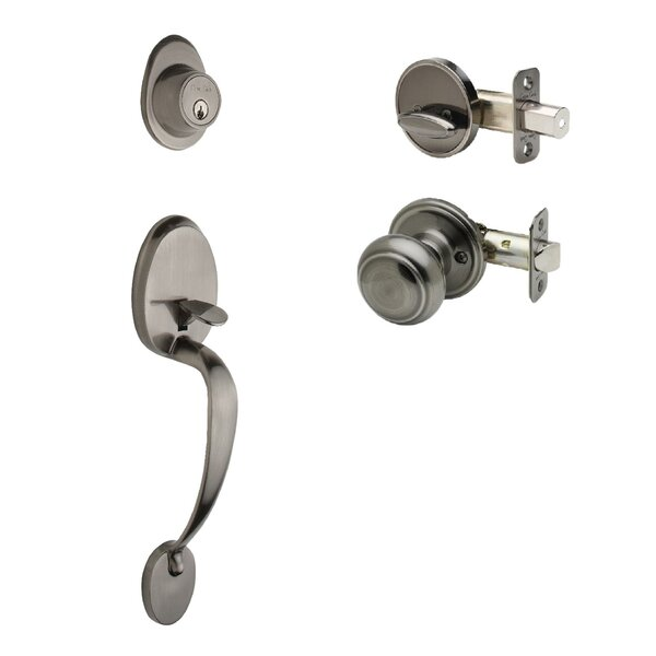 Colonial Single Cylinder Handleset with Colonial Interior Knob Trim by Copper Creek