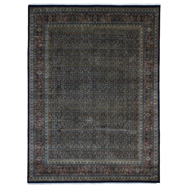 Ballimamore Hand Woven Wool Navy/Red Area Rug by Astoria Grand