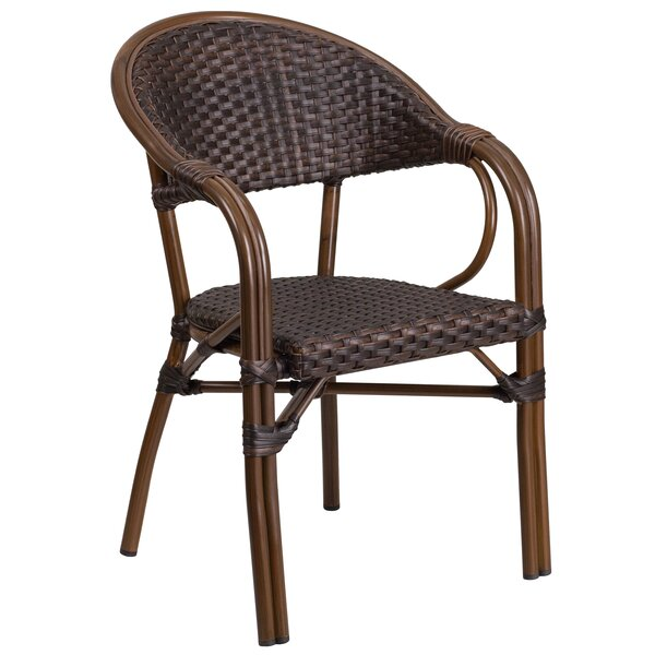 Shelie Rattan Restaurant Patio Chair by Bayou Breeze