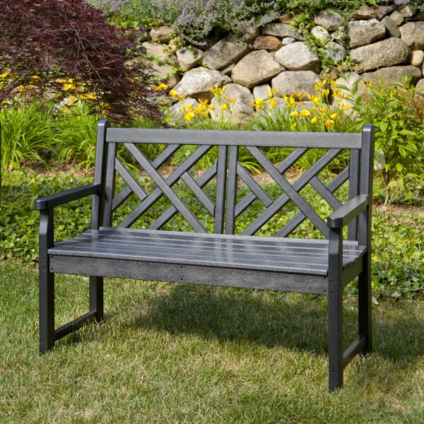 Chippendale Plastic Bench by POLYWOOD POLYWOOD®