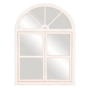 Gracie Oaks Morrigan Rustic Farmhouse Windowpane Wall Mounted Mirror