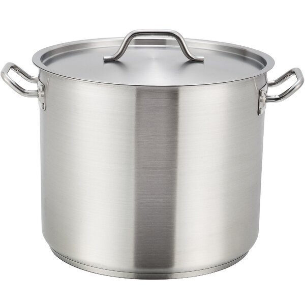 Stock Pot with Lid by Winco