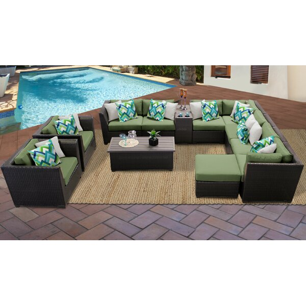 Tegan 12 Piece Sectional Seating Group with Cushions by Sol 72 Outdoor