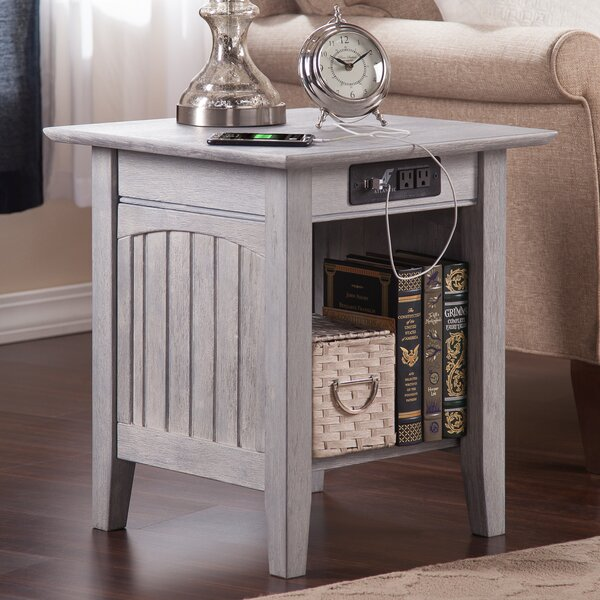 Glenni End Table with Storage by Highland Dunes