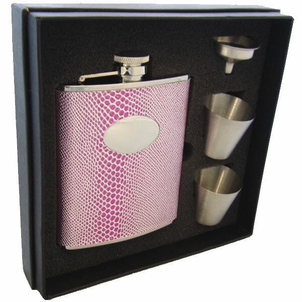 Visol Products Snakeskin Design Deluxe Flask Gift Set Wayfair