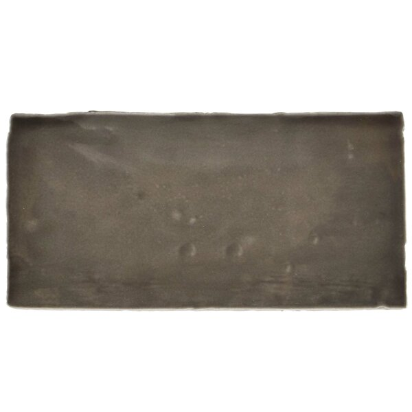 Tivoli 3 x 6 Ceramic Subway Tile in Graphite Gray by EliteTile