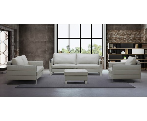 Hewins Leather Configurable Living Room Set by Orren Ellis