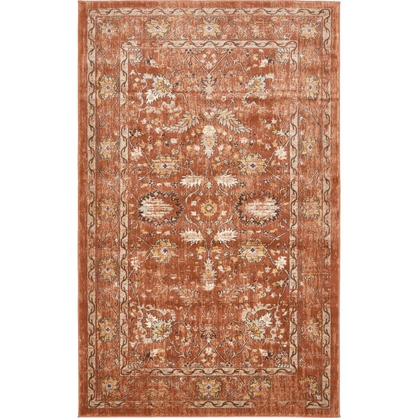 Geleen Brown Area Rug by World Menagerie