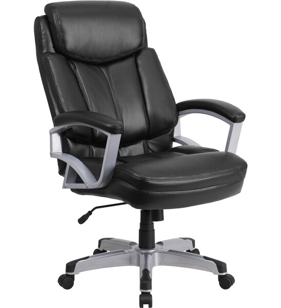 Laduke High-Back Leather Executive Chair by Symple Stuff