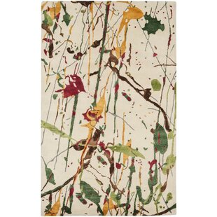 Hodges Hand-Tufted Wool Ivory Rug by Wrought Studio