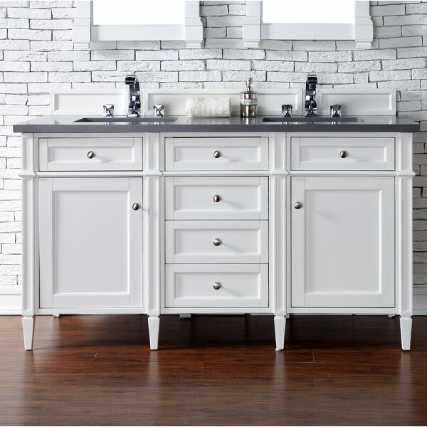 Deleon 60 Double Cottage White Bathroom Vanity Set by Darby Home Co