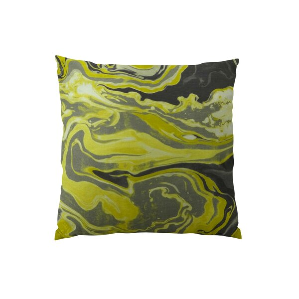 Medici Marble Ink Handmade Throw Pillow by Plutus Brands