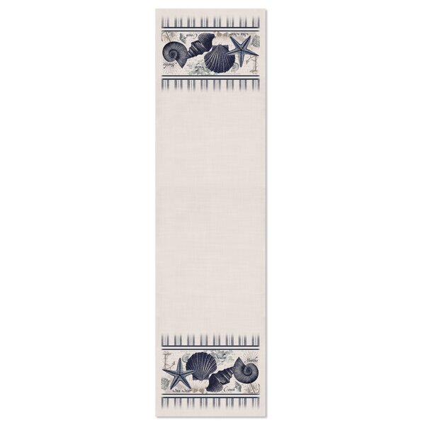 Bushey Shells Table Runner by Highland Dunes