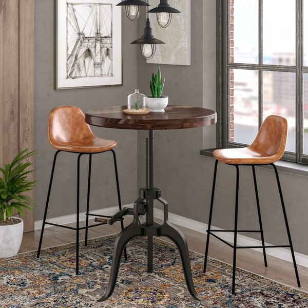 Grigor Adjustable Pub Table by 17 Stories