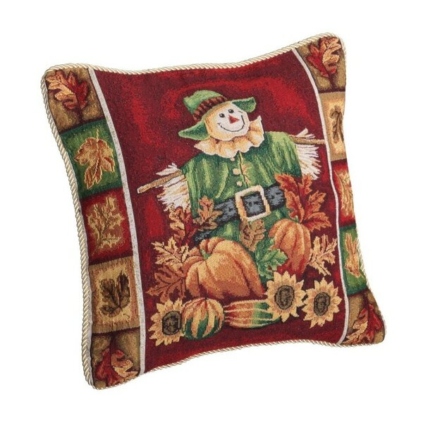 Fall Harvest Scarecrow Pillow Cover by Violet Linen