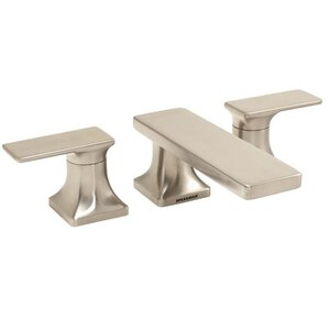 The Edge Double Handle Widespread Roman Tub Faucet