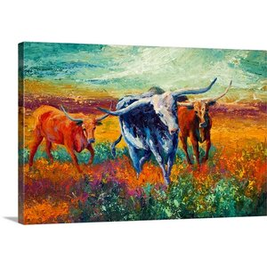 'When the Cows Come Home' by Marion Rose Painting Print on Canvas by Canvas On Demand