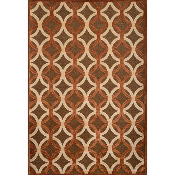 Coronado Chocolate/Ivory Geometric Area Rug by Corrigan Studio