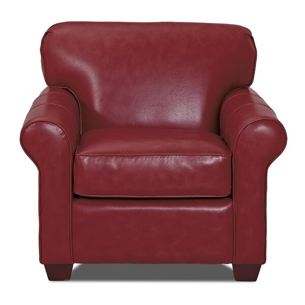 Jennifer Leather Club Chair by Wayfair Custom Upholstery Wayfair Custom Upholstery™