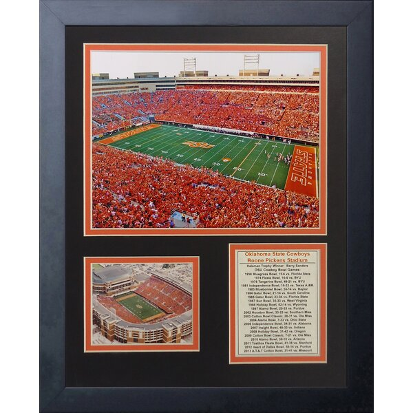 Oklahoma State Cowboys Boone Pickens Stadium Framed Memorabilia by Legends Never Die
