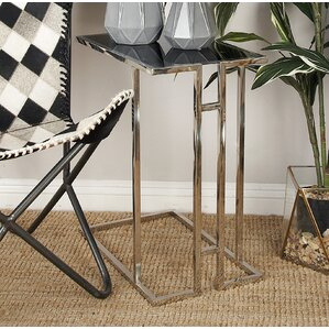 Metal and Glass End Table ..