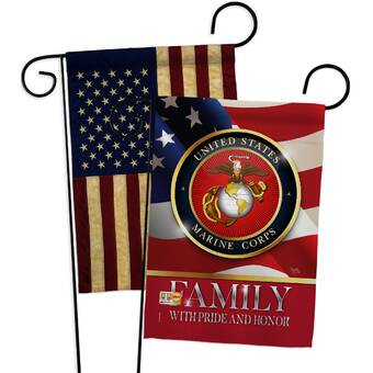 Breeze Decor Marines Proudly Family Impressions Decorative 2 Sided Polyester 19 X 13 In 2 Piece Garden Flag Set Wayfair